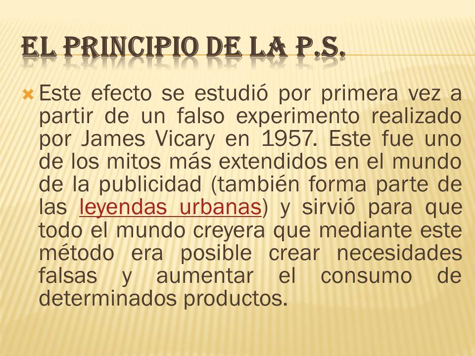 EL PRINCIPIO DE LA P.S.