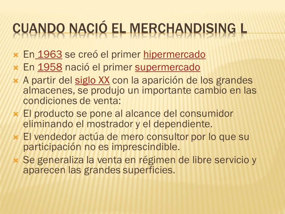 Cuando nació el merchandising l