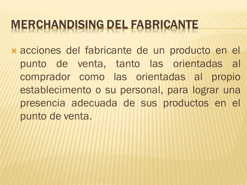 Merchandising del fabricante