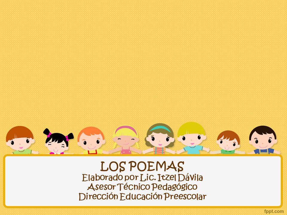 LOS POEMAS Elaborado por Lic