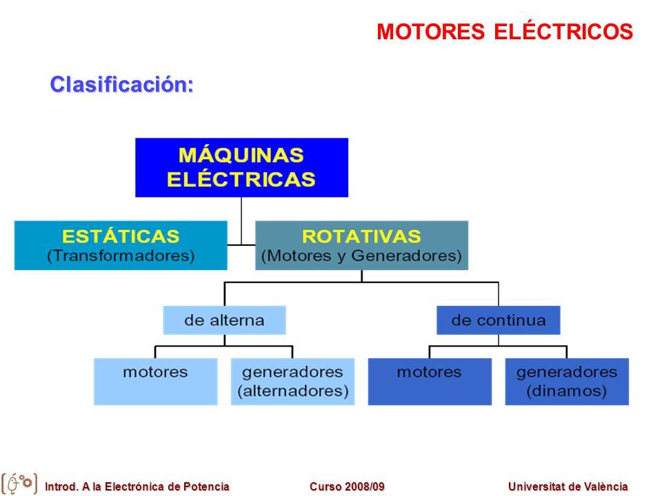 MOTORES ELÉCTRICOS Clasificación: