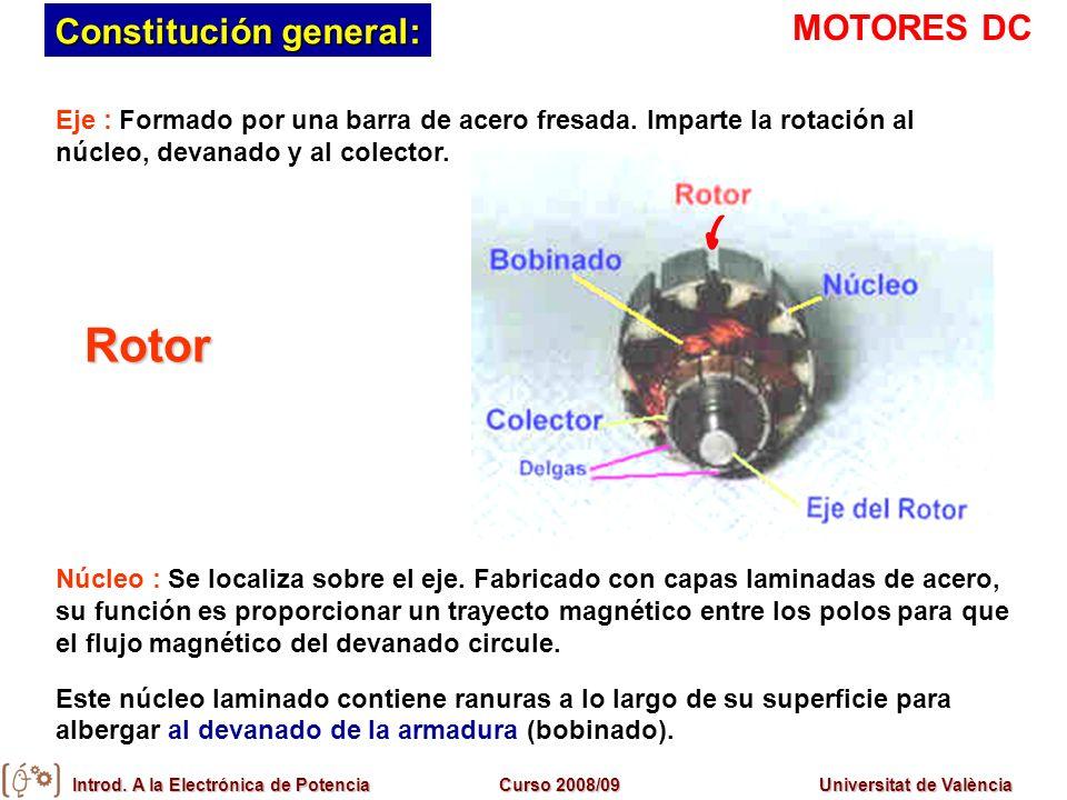 Rotor Constitución general: MOTORES DC