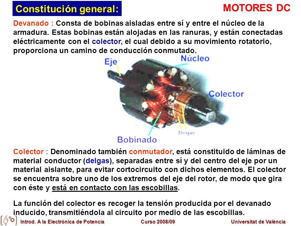 Constitución general: MOTORES DC