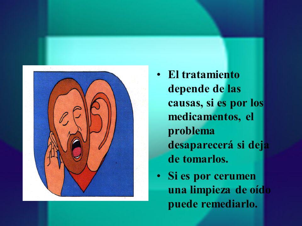 El tratamiento depende de las causas, si es por los medicamentos, el problema desaparecerá si deja de tomarlos.