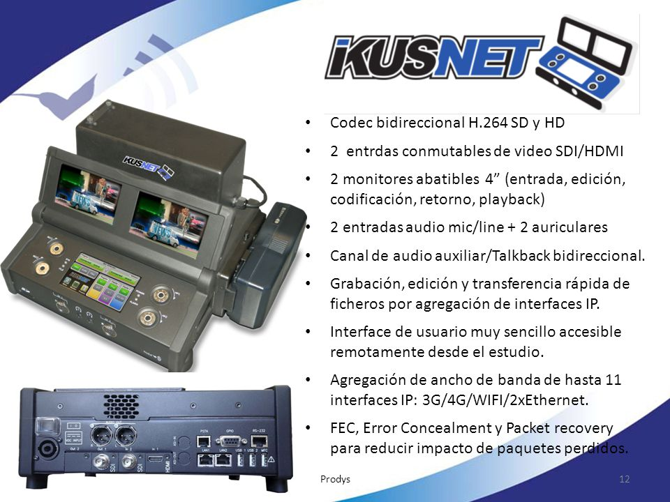 Codec bidireccional H.264 SD y HD