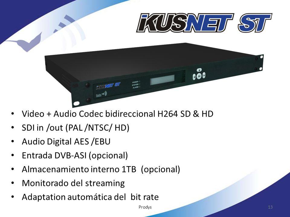 Video + Audio Codec bidireccional H264 SD & HD