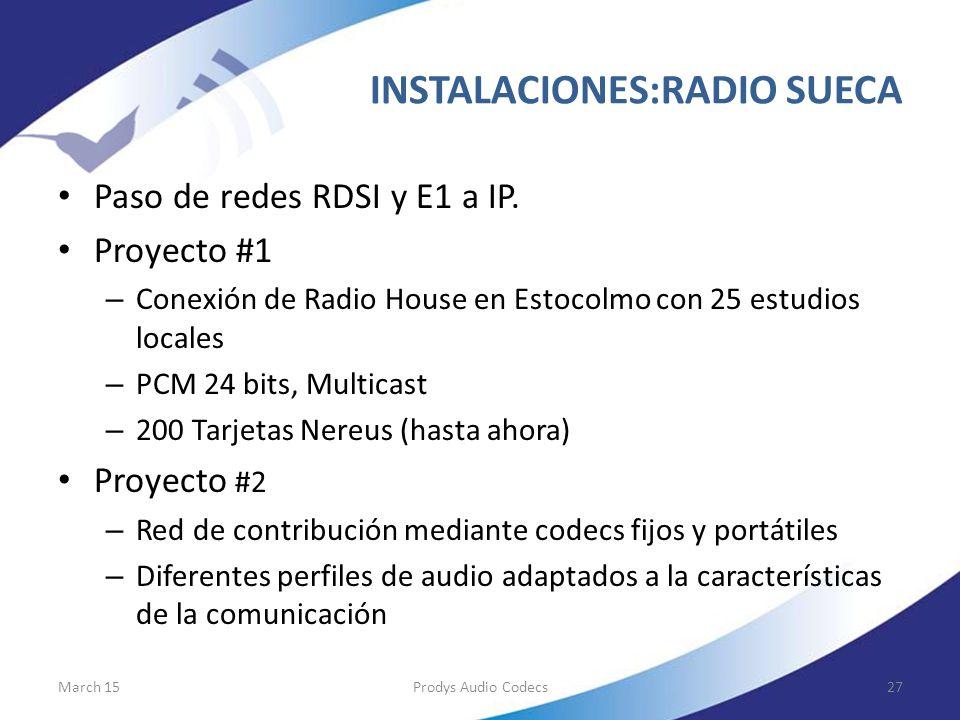 INSTALACIONES:RADIO SUECA