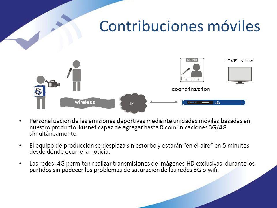 Contribuciones móviles