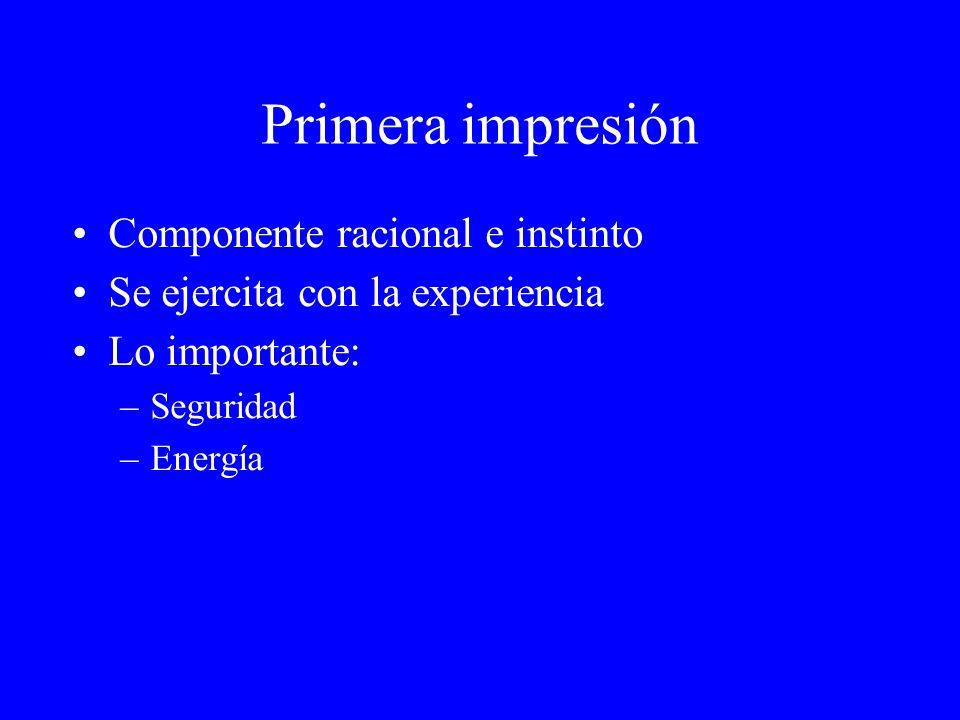 Primera impresión Componente racional e instinto