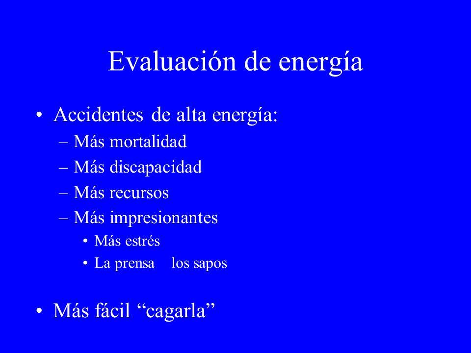 Evaluación de energía Accidentes de alta energía: Más fácil cagarla