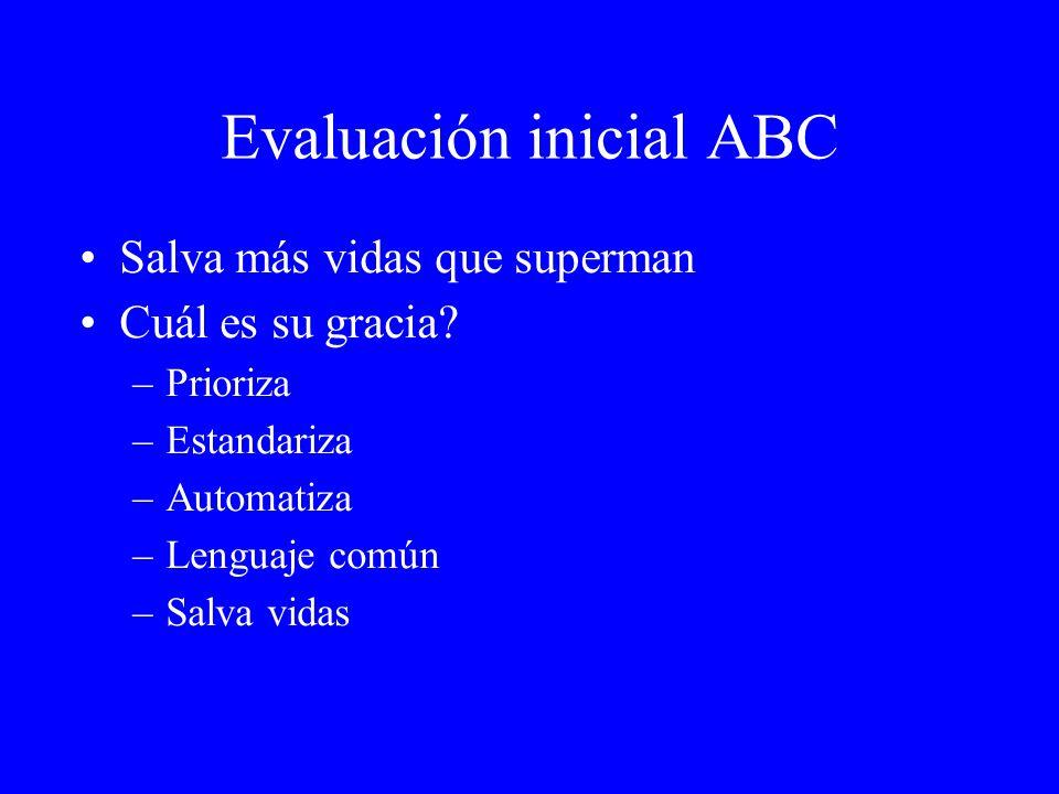 Evaluación inicial ABC