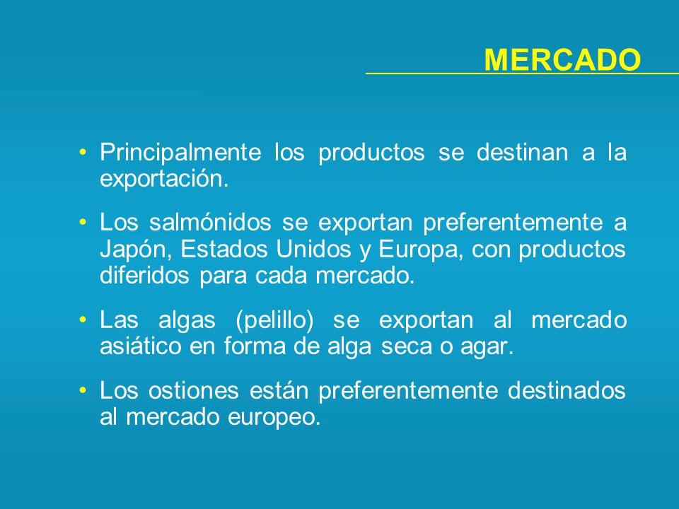 MERCADO Principalmente los productos se destinan a la exportación.