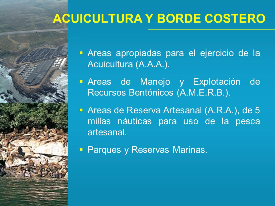 ACUICULTURA Y BORDE COSTERO
