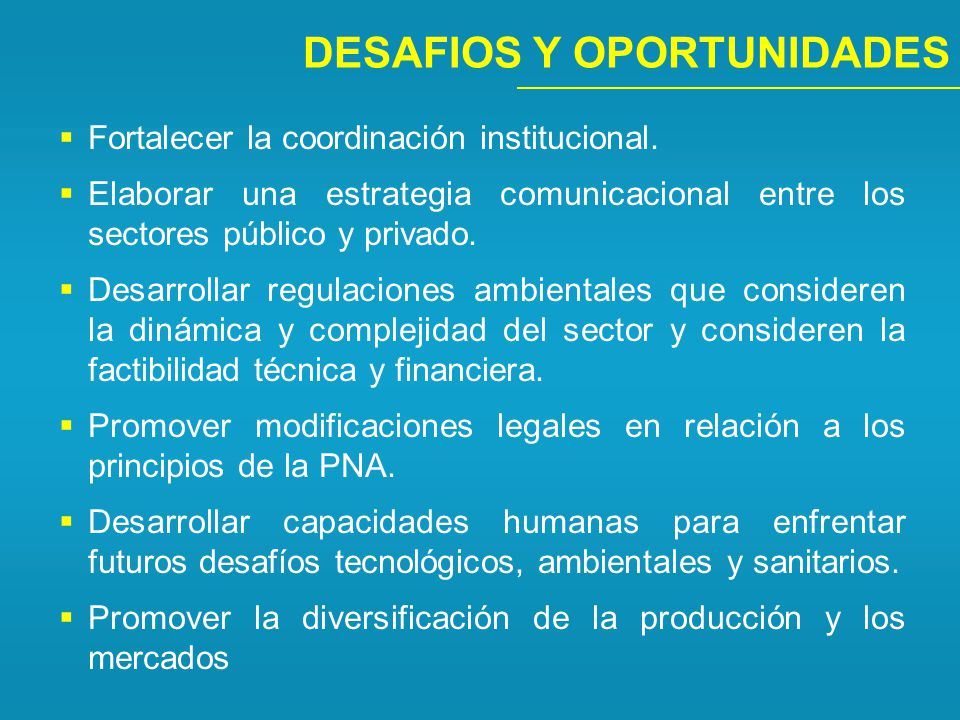 DESAFIOS Y OPORTUNIDADES