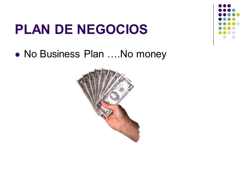 PLAN DE NEGOCIOS No Business Plan ….No money