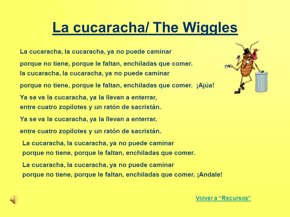 La cucaracha/ The Wiggles
