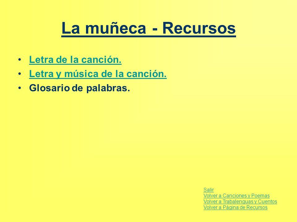 La muñeca - Recursos Letra de la canción.