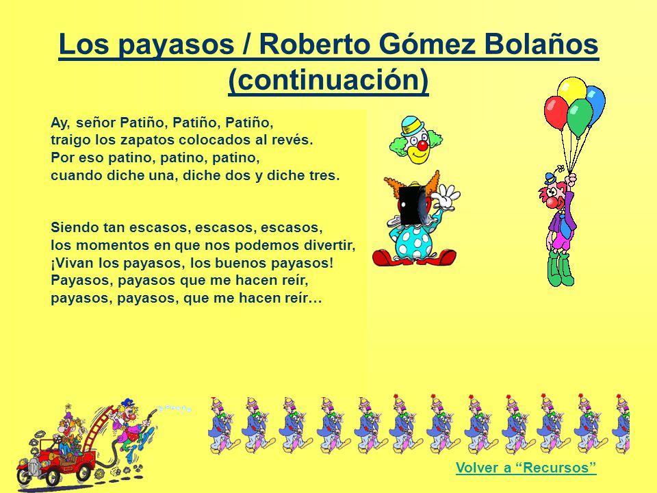 Los payasos / Roberto Gómez Bolaños (continuación)