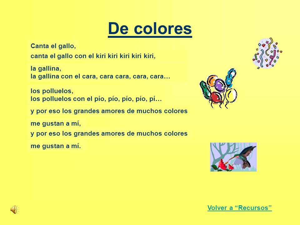 De colores Canta el gallo, De colores,