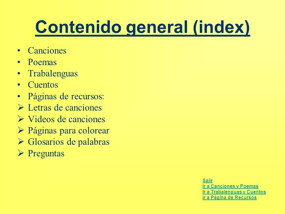 Contenido general (index)