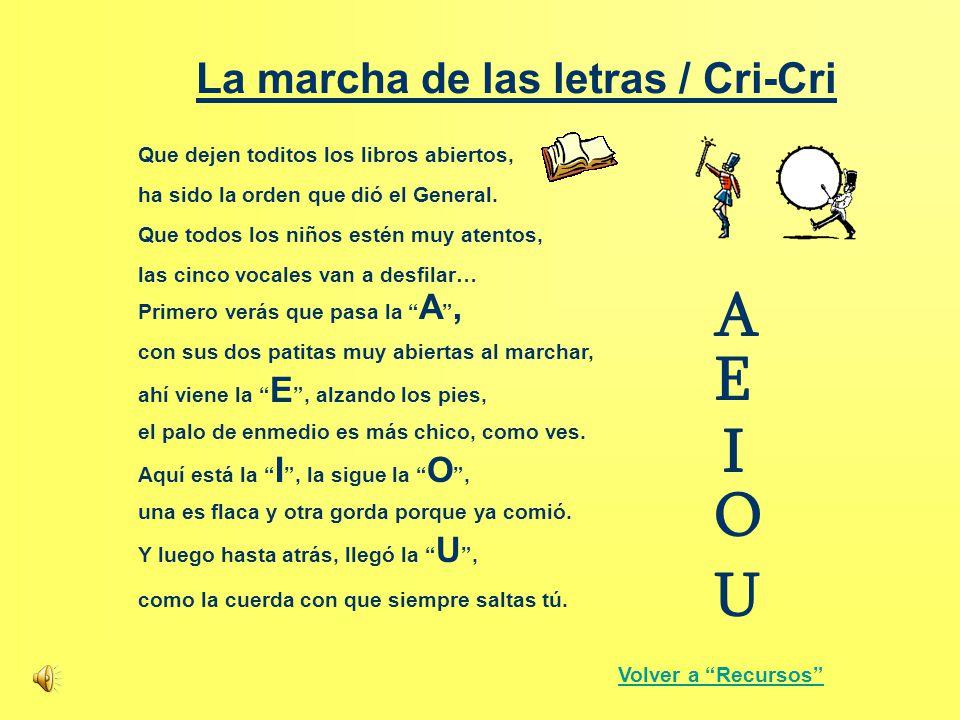 La marcha de las letras / Cri-Cri