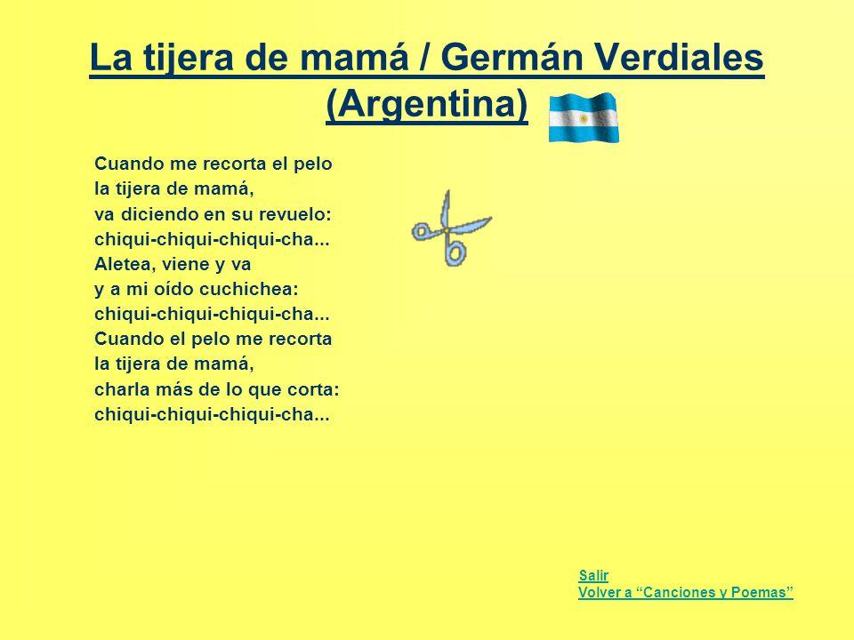 La tijera de mamá / Germán Verdiales (Argentina)