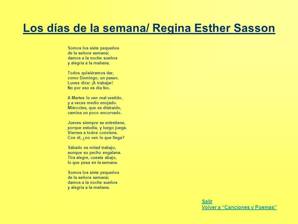 Los días de la semana/ Regina Esther Sasson