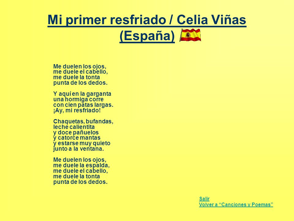 Mi primer resfriado / Celia Viñas (España)