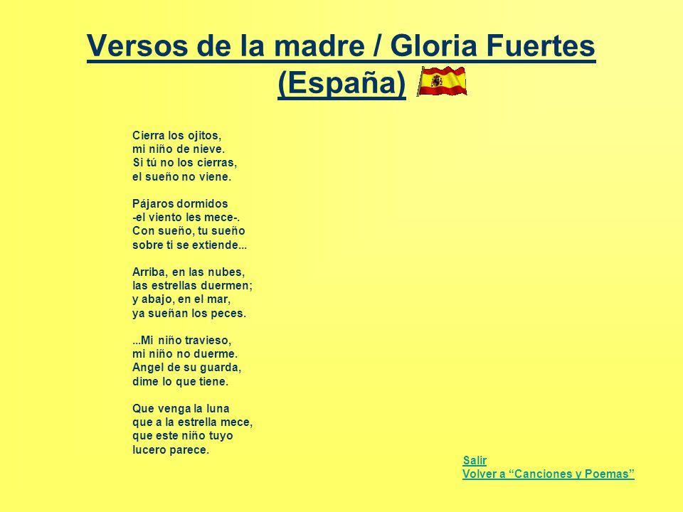 Versos de la madre / Gloria Fuertes (España)