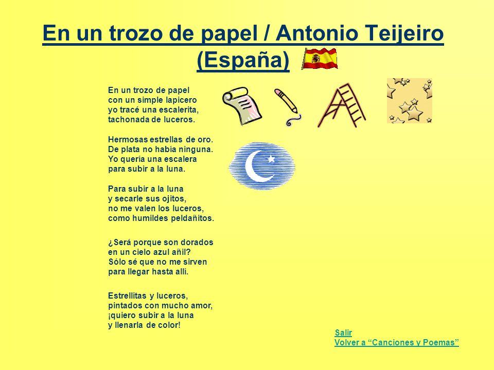 En un trozo de papel / Antonio Teijeiro (España)