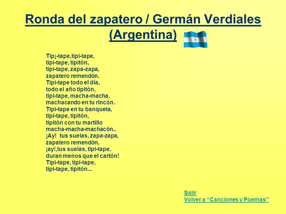 Ronda del zapatero / Germán Verdiales (Argentina)