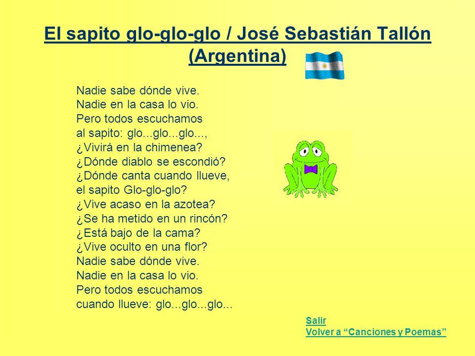 El sapito glo-glo-glo / José Sebastián Tallón (Argentina)