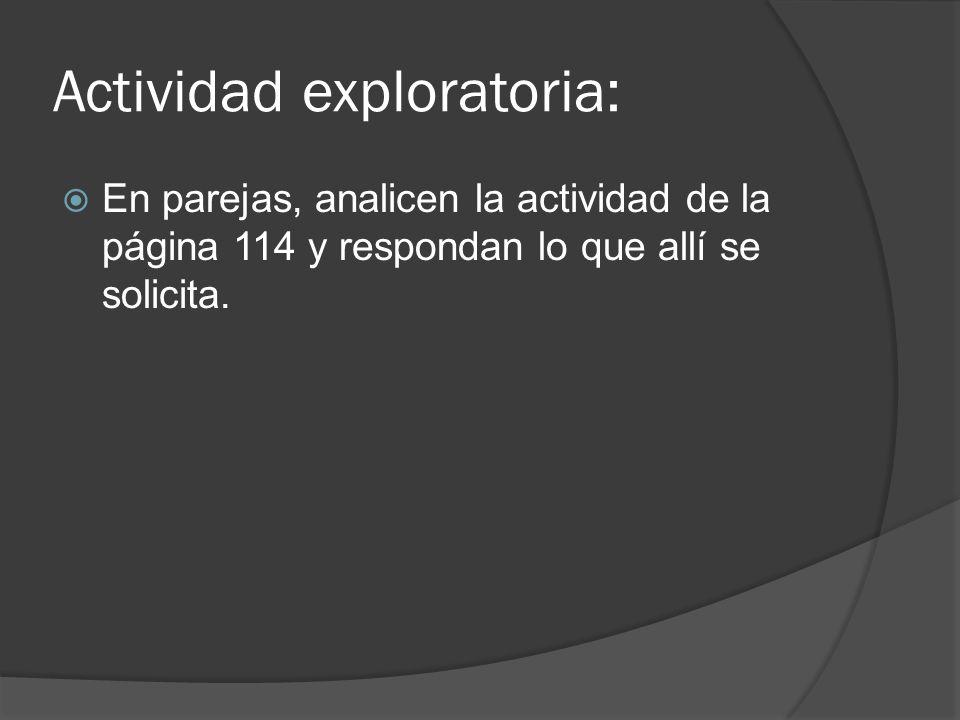 Actividad exploratoria:
