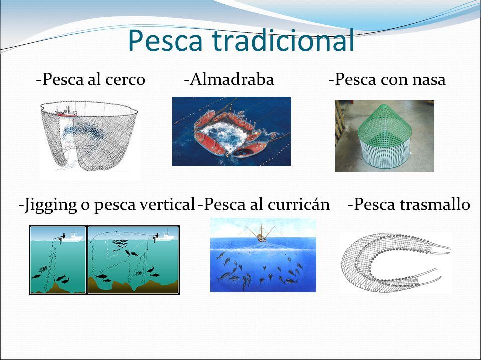 Pesca tradicional -Pesca al cerco -Almadraba -Pesca con nasa