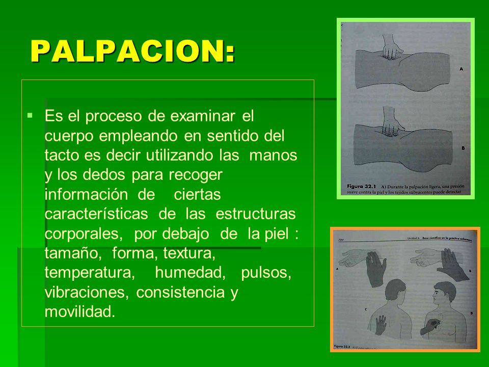 PALPACION: