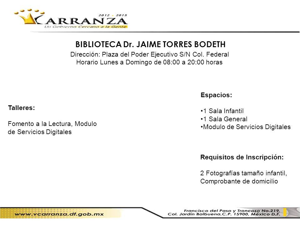 BIBLIOTECA Dr. JAIME TORRES BODETH