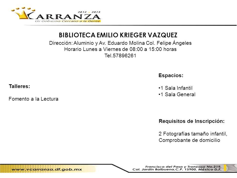 BIBLIOTECA EMILIO KRIEGER VAZQUEZ