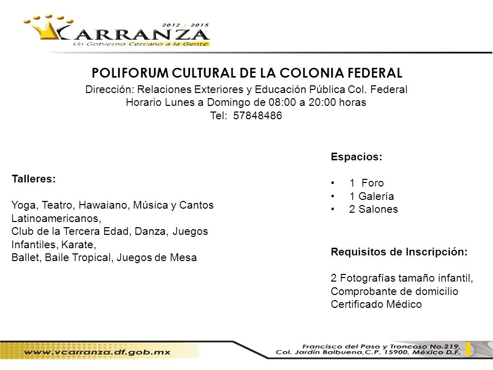 POLIFORUM CULTURAL DE LA COLONIA FEDERAL