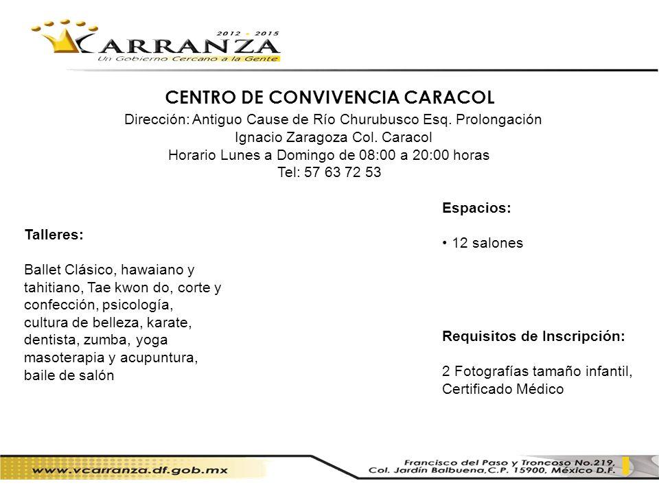 CENTRO DE CONVIVENCIA CARACOL
