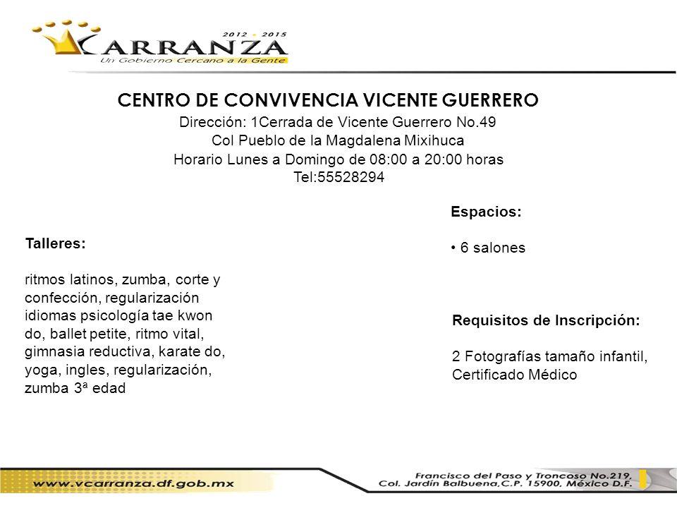 CENTRO DE CONVIVENCIA VICENTE GUERRERO