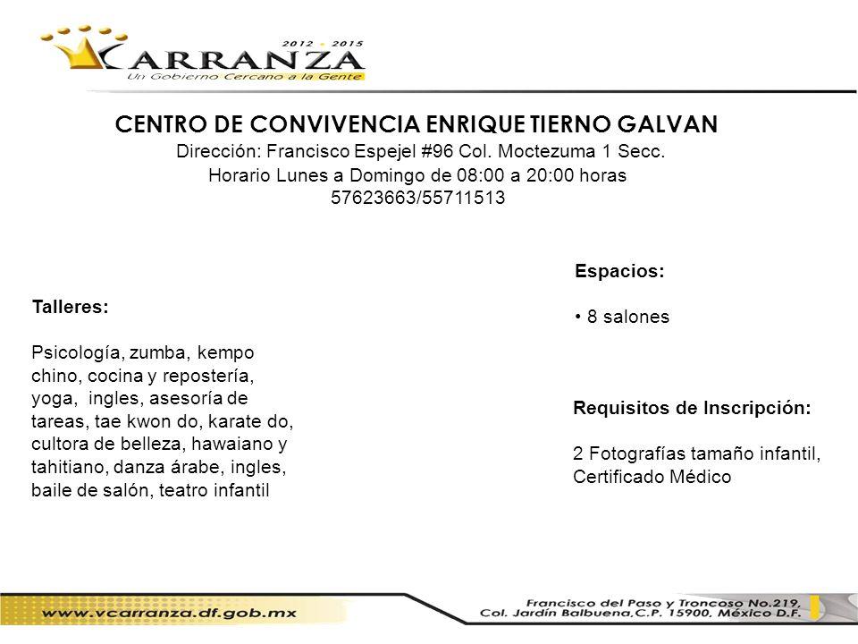 CENTRO DE CONVIVENCIA ENRIQUE TIERNO GALVAN
