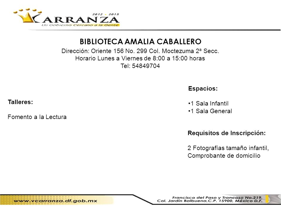 BIBLIOTECA AMALIA CABALLERO
