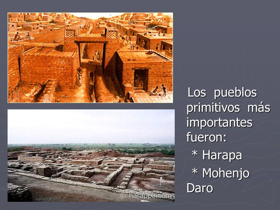 Los pueblos primitivos más importantes fueron: