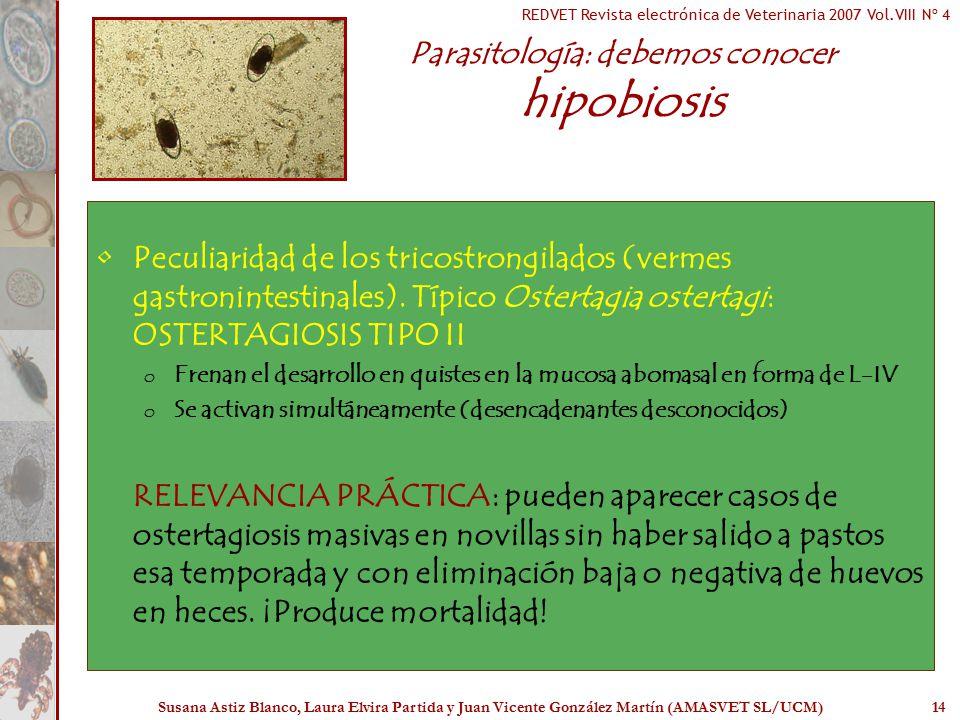Parasitología: debemos conocer hipobiosis