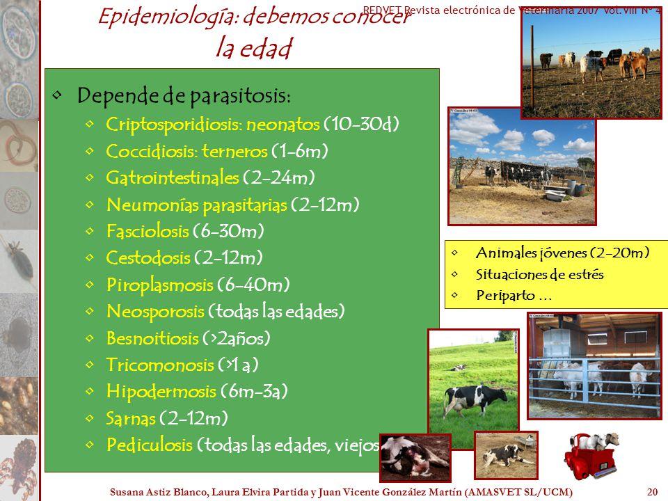 Epidemiología: debemos conocer la edad