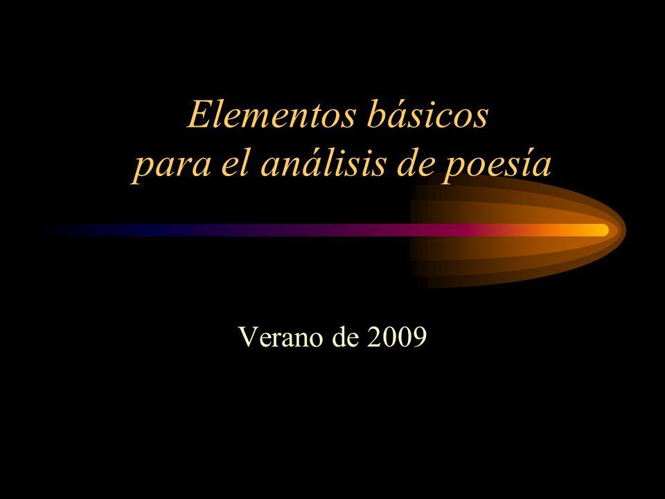 Elementos básicos para el análisis de poesía