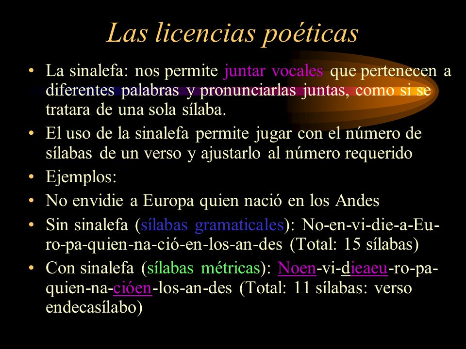Las licencias poéticas