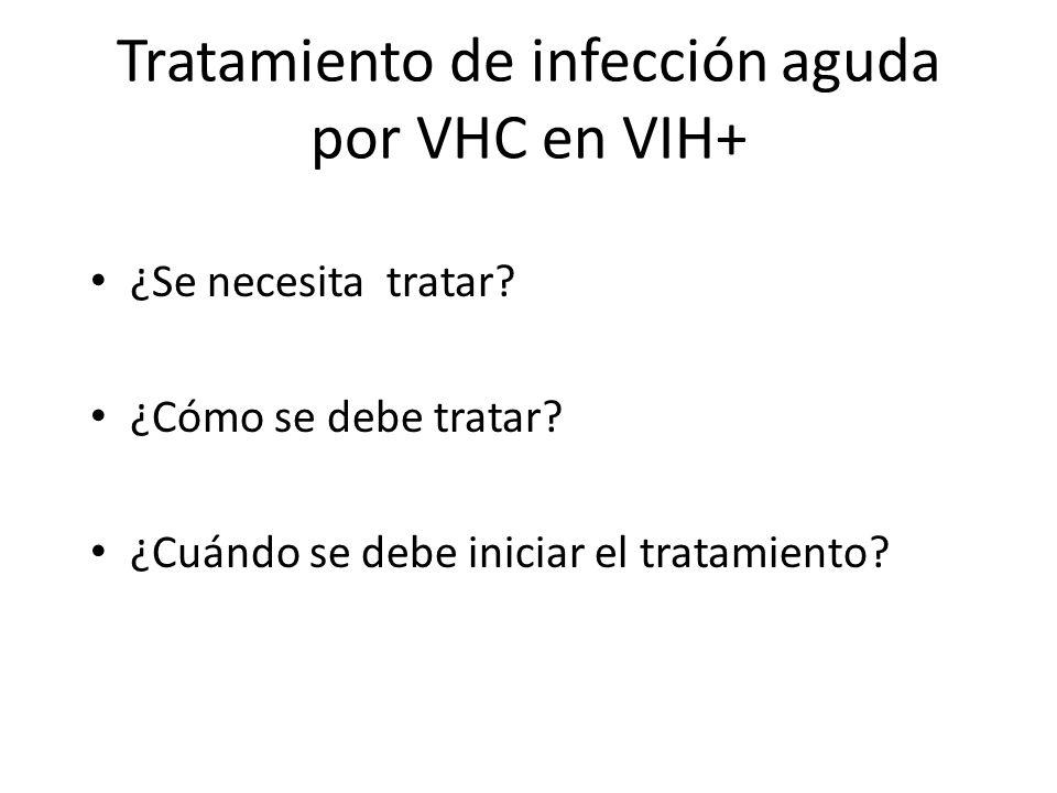 Tratamiento de infección aguda por VHC en VIH+