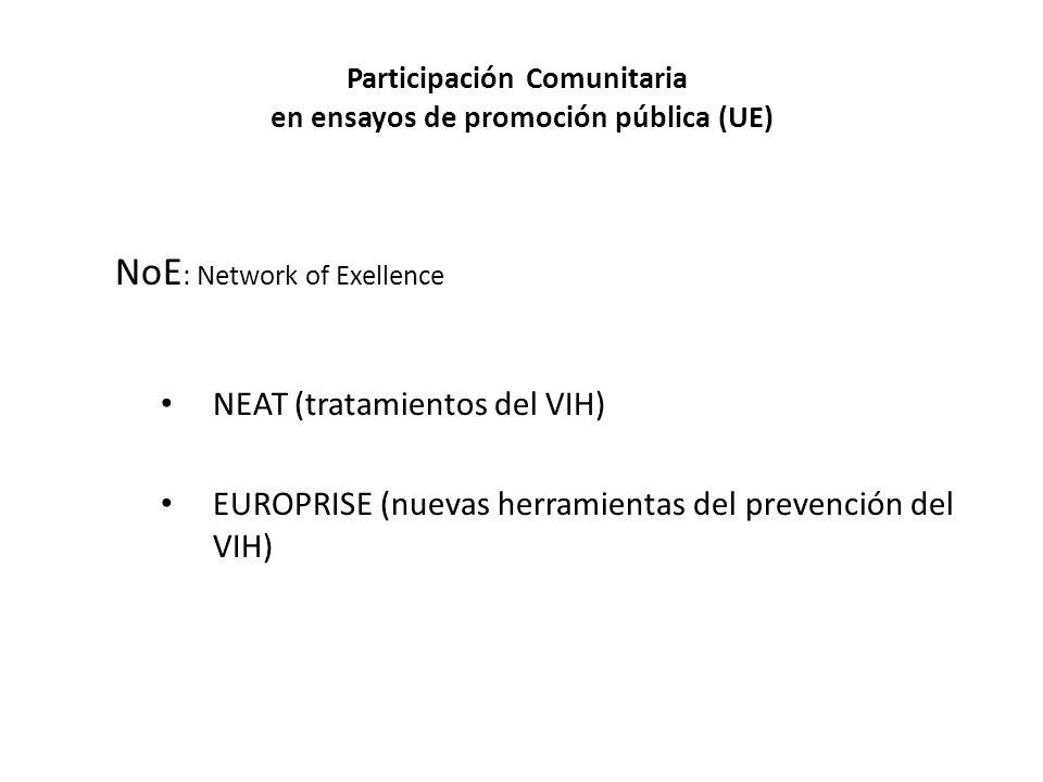 Participación Comunitaria en ensayos de promoción pública (UE)