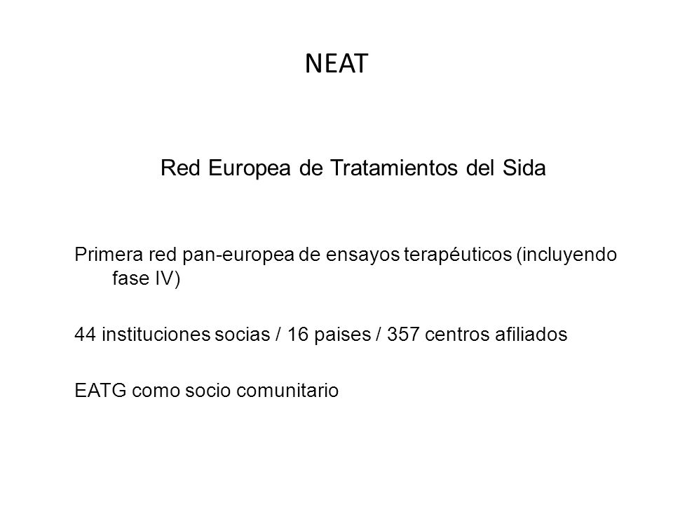 Red Europea de Tratamientos del Sida